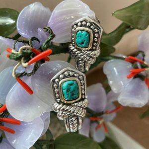 Vintage MX design silver clips earrings